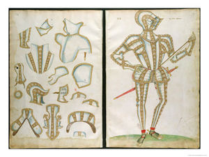 Halder Suit Of Armour For My Lorde Skrope From An Elizabethan Armourer S Album