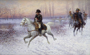 Napoleon At The Head Of A Troop Of Cavalry