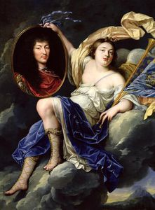 Fame Presenting A Portrait Of Louis Xiv To France