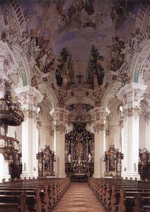 Interior With Ceiling Fresco