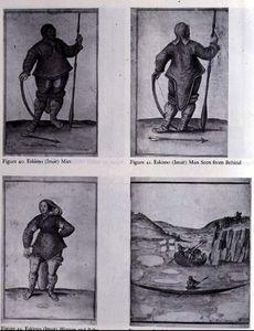 Eskimo (inuit) Man; Eskimo (inuit) Man Seen From Behind; Eskimo (inuit) Woman And Baby
