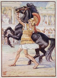 He Ran Towards The Horse And Seized The Bridle