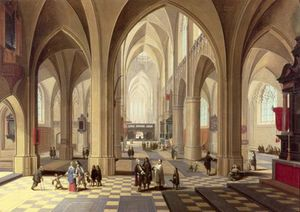 Interior Of A Gothic Cathedral
