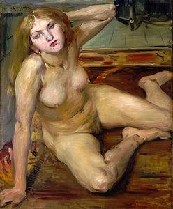 Nude Girl On A Rug
