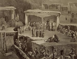 Funeral Ceremony In The Ruins