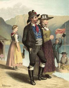 German Costume Tyrol Achenkirch