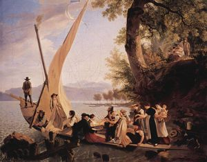 The Embarkation Of The Wedding Party