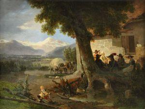 Vue Des Environs De Geneve Avec, Au Fond, Le Mont Blanc