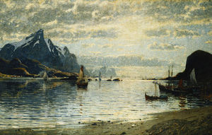 A Fjord Scene With Sailing Vessels