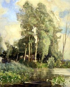 A Cottage On A Riverbank