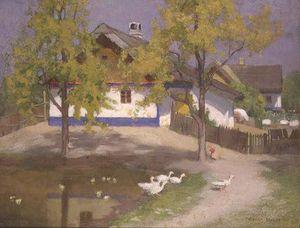 A Slav Cottage At Kalocsa
