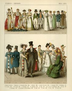 French And German Costumes