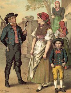 German Costume Bohmen Hayd