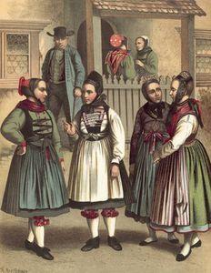 German Costume Grossherzogthum Hessen -