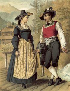 German Costume Tyrol Billerthal