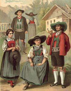 German Costume Tyrol Sarnthal