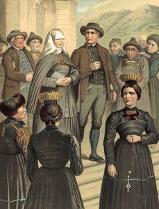 German Costume Vorarlberg Bregenzerwald -