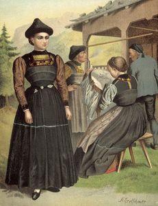 German Costume Vorarlberg Bregenzerwald