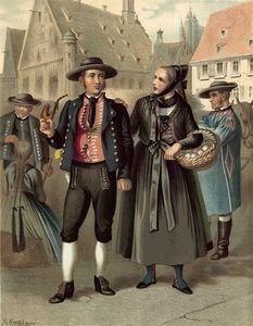 German Costume Wurtemberg Ulm