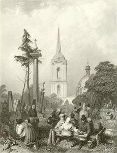 cimitero di il smolensko Chiesa