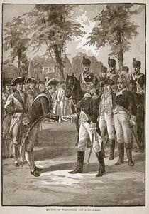 Meeting Of Washington And Rochambeau