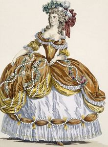 Grand Court Dress In New Style, Engraved By Dupin