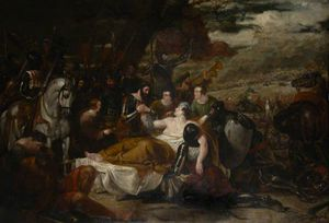 Black Prince Thanking Lord James Audley At Poictiers