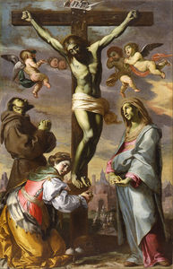 Crucifix With The Virgin And Saints Francis And Agatha