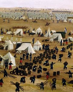 Argentine Camp During War Against Paraguay