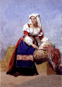 Donna D'albano', Portrait Of An Italian Country