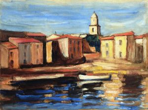 The Steeple Of Saint Tropez And Conche