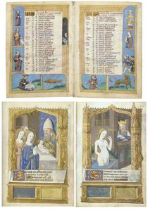 Book Of Hours, Use Of Rome, In Latin And French, Illuminated Manuscript On Vellum