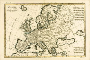 Europe, From 'atlas De Toutes Les Parties Connues Du Globe Terrestre' By Guillaume Raynal )