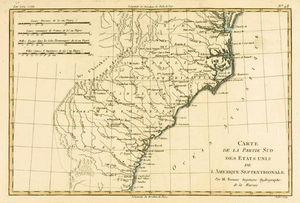 South-east Coast Of America, From 'atlas De Toutes Les Parties Connues Du Globe Terrestre' By Guilla