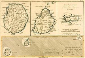 The Islands Of Rodriguez, Isle De France And Bourbon, From 'atlas De Toutes Les Parties Connues Du G