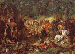 Robin Hood And His Merry Men Entertaining Richard