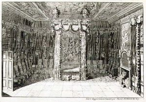 Design For A Bedchamber With A Four Poster Bed