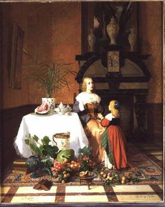 Interior With Figures And Fruit
