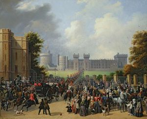The Arrival Of Louis-philippe At Windsor Castle