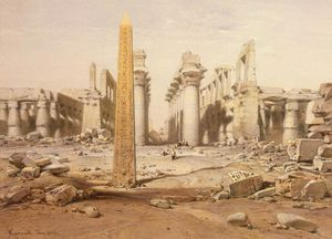 View Of The Ruins Of The Temple Of Karnak