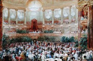 Dinner In The Salle Des Spectacles At Versailles