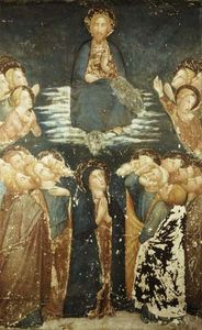The Ascension Of Christ Surrounded By Apostles And The Virgin Mary