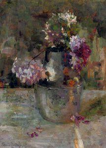 Purple Hortensia In A Vase