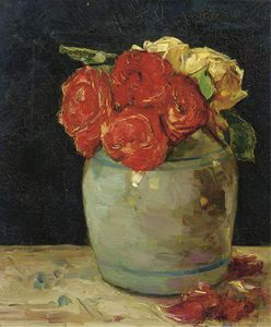 Roses In A Clay Pot