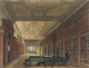 Interior Of The Library Of Christ Church