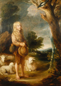 A Wooded Landscape With A Shepherd Boy Listening To