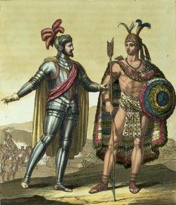 Conquistador With A Native American Chief