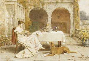 Faithful Friend At Tea Time