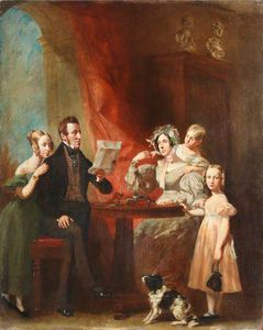 The Town Clerk Of Brecon And His Family