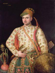 Portrait Of A Gentleman In Royal Mogul Costume,